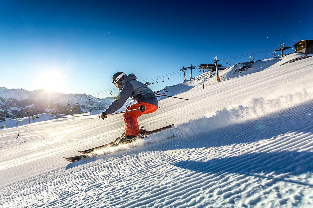 Skifahrer im Hochzillertal