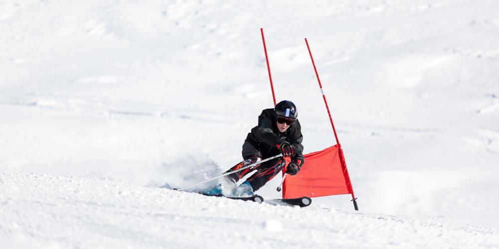 Slalomfahrer am Söllereck