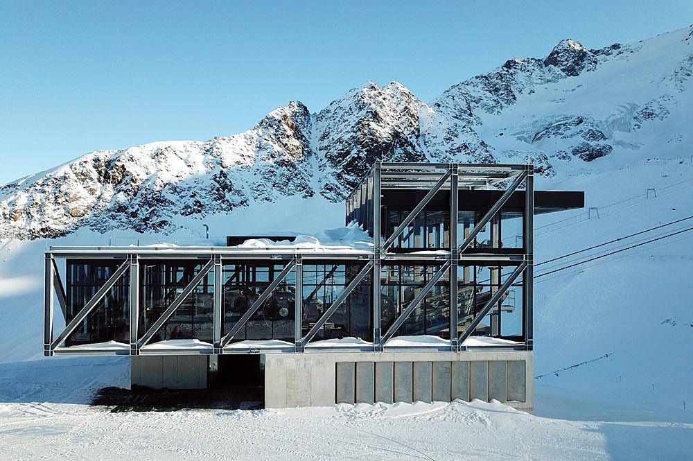 Bergstation der Falginjochbahn am Kaunertaler Gletscher