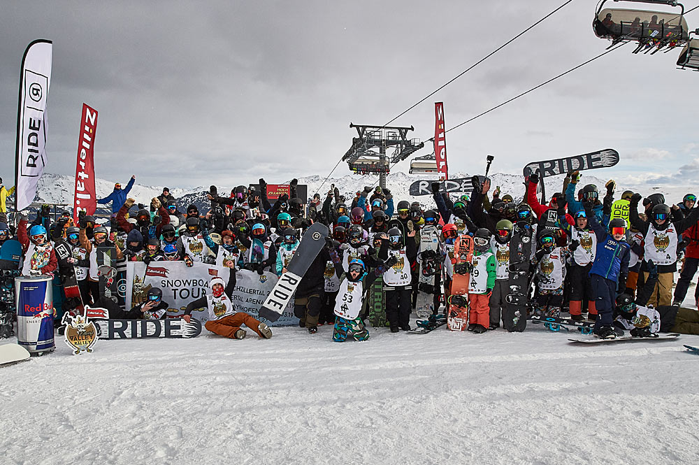 Snowboarder bei der Zillertal Välley Rälley