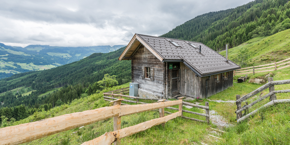 Almliesl Hütte mitten in den Kitzbüheler Alpen