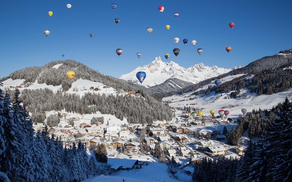 Ballons bei der Ballonwoche Filzmoos