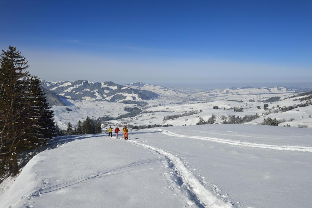 Schneeschuhwanderer im Appenzeller Land