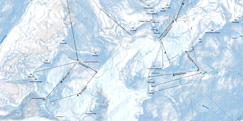Situation Pitztal und Sölden