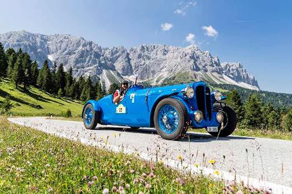 Oldtimer bei der 35 Jahre Südtirol Classic Schenna