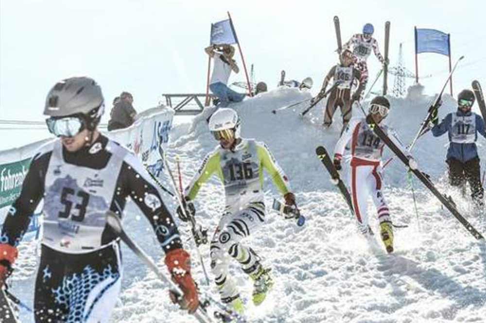 Die letzten Meter beim Kult-Skirennen in St. Anton am Arlber