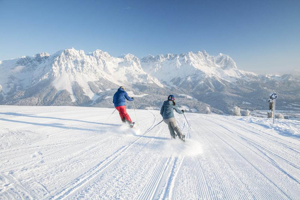 Skifahrer in der SkiWelt Wilder Kaiser Brixental