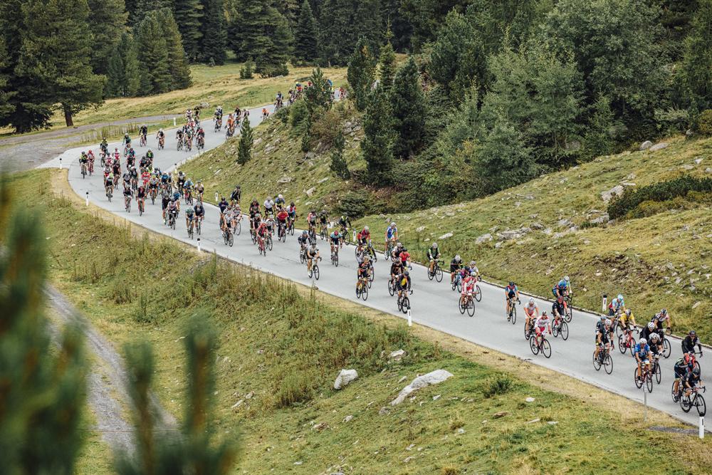 Teilnehmer beim Ötztaler Radmarathon