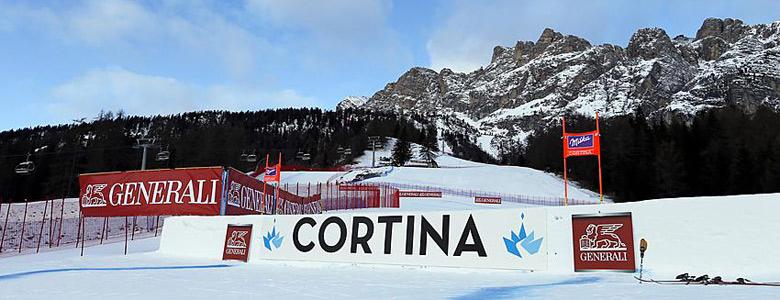 Weltcup-Strecke in Cortina