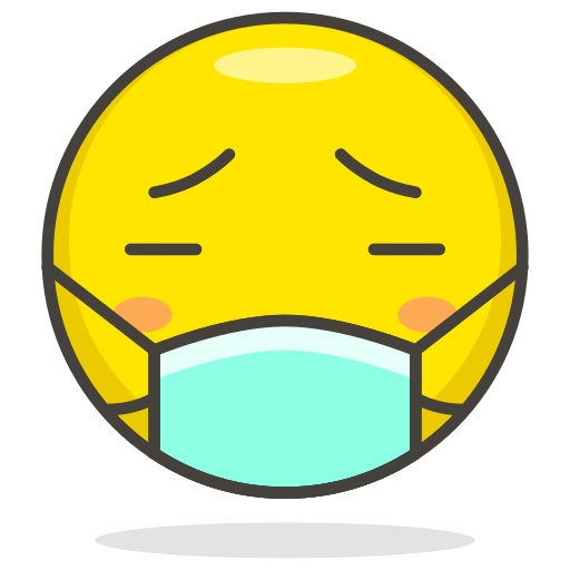 Emoji mit Mundschutz