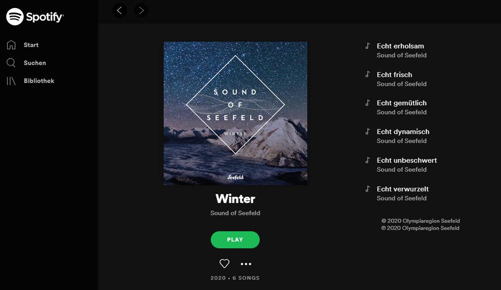 Sound of Seefeld auf Spotify