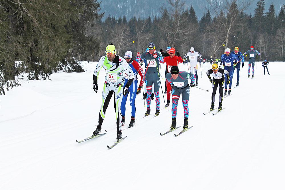 Langläufer beim Achensee 3-Täler-Lauf
