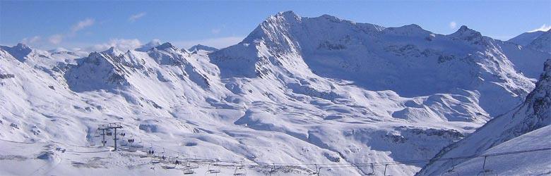 Aussicht von Norden auf den Grand Motte Gletscher