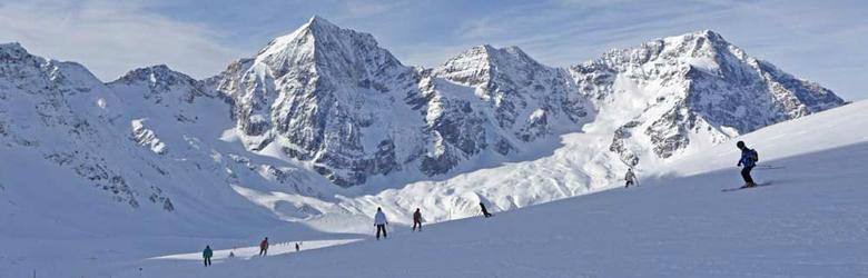 Skifahrer in Sulden