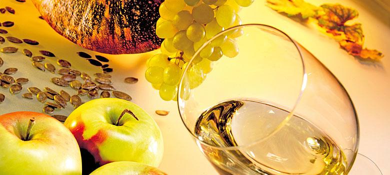 Äpfel, Kürbis und Weißwein aus der Steiermark