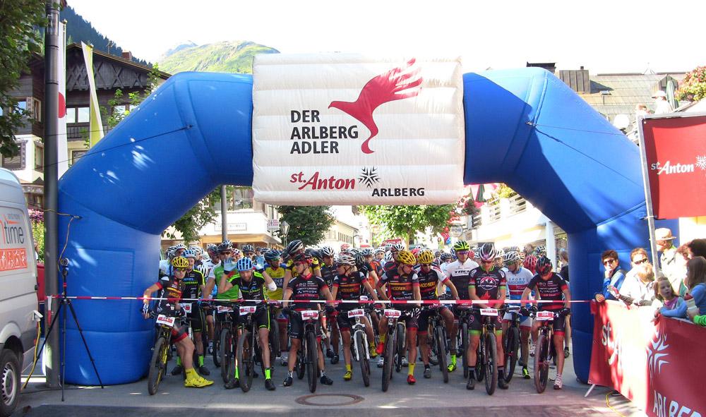 Start zum Bike-Marathon Arlberg Adler