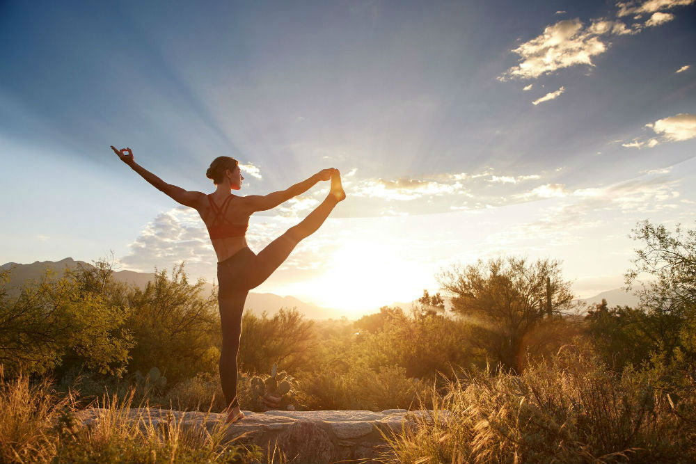 Sonnenaufgangsyoga bei Canyon Ranch in Tucson, Arizona