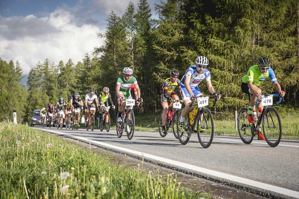 Teilnehmer beim Imster Radmarathon