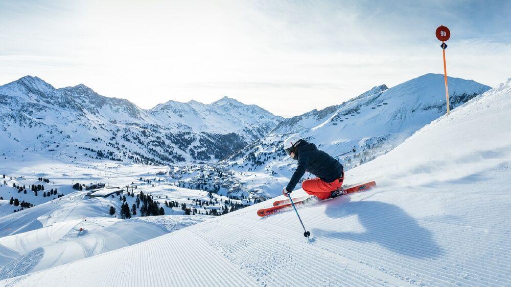 Skifahrerin in Obertauern