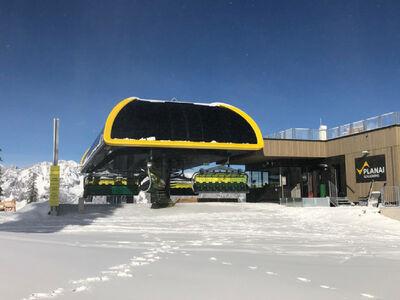 Fertiggestellte Bergstation der neuen Lärchkogelbahn