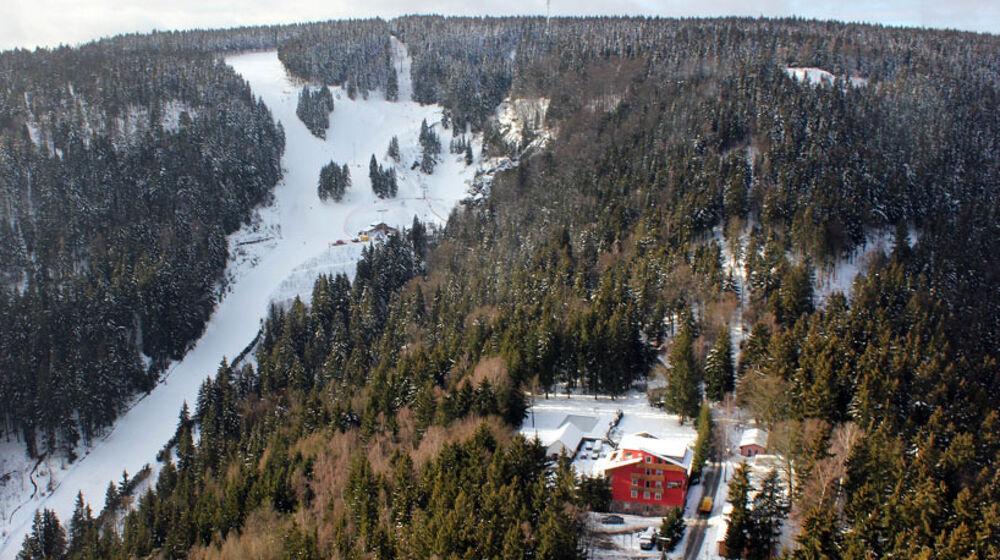 Blick auf das Skigebiet Skiarena Silbersattel Steinach