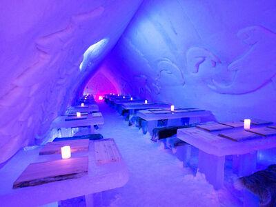 Icerestaurant des Arctic Snow Hotels in Lapland