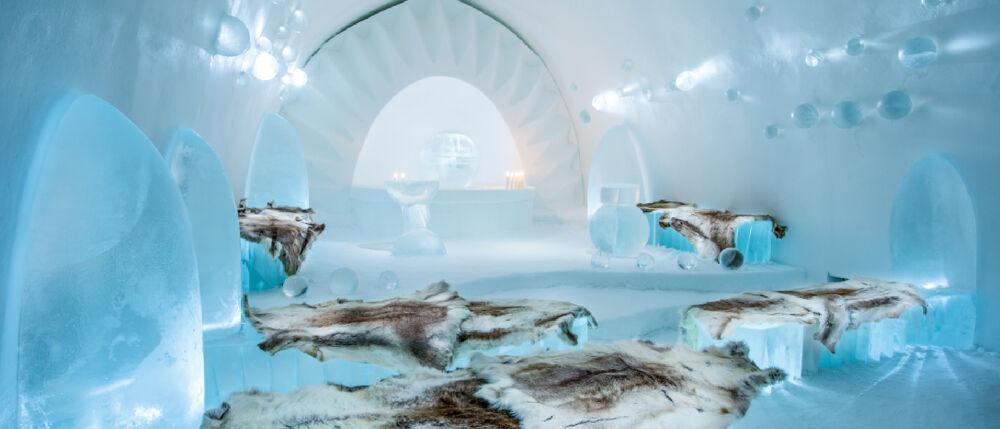 Die wunderschöne Ice Church von ICEHOTEL