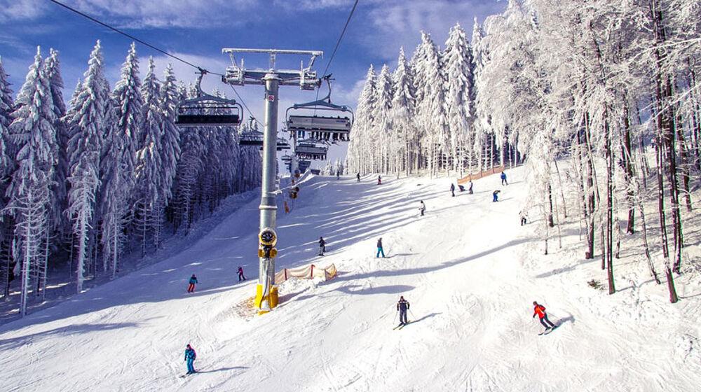 Skifahrer in Winterberg