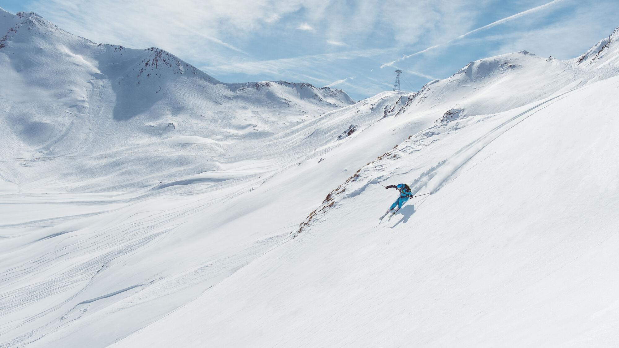 Einen möglichen Einstieg ins Ischgler Backcountry bietet die Piz Val Grondabahn, die Wintersportler