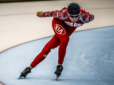 Eisschnellläufer in Inzell