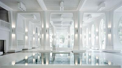 Säulen-Architektur der Tamina Therme