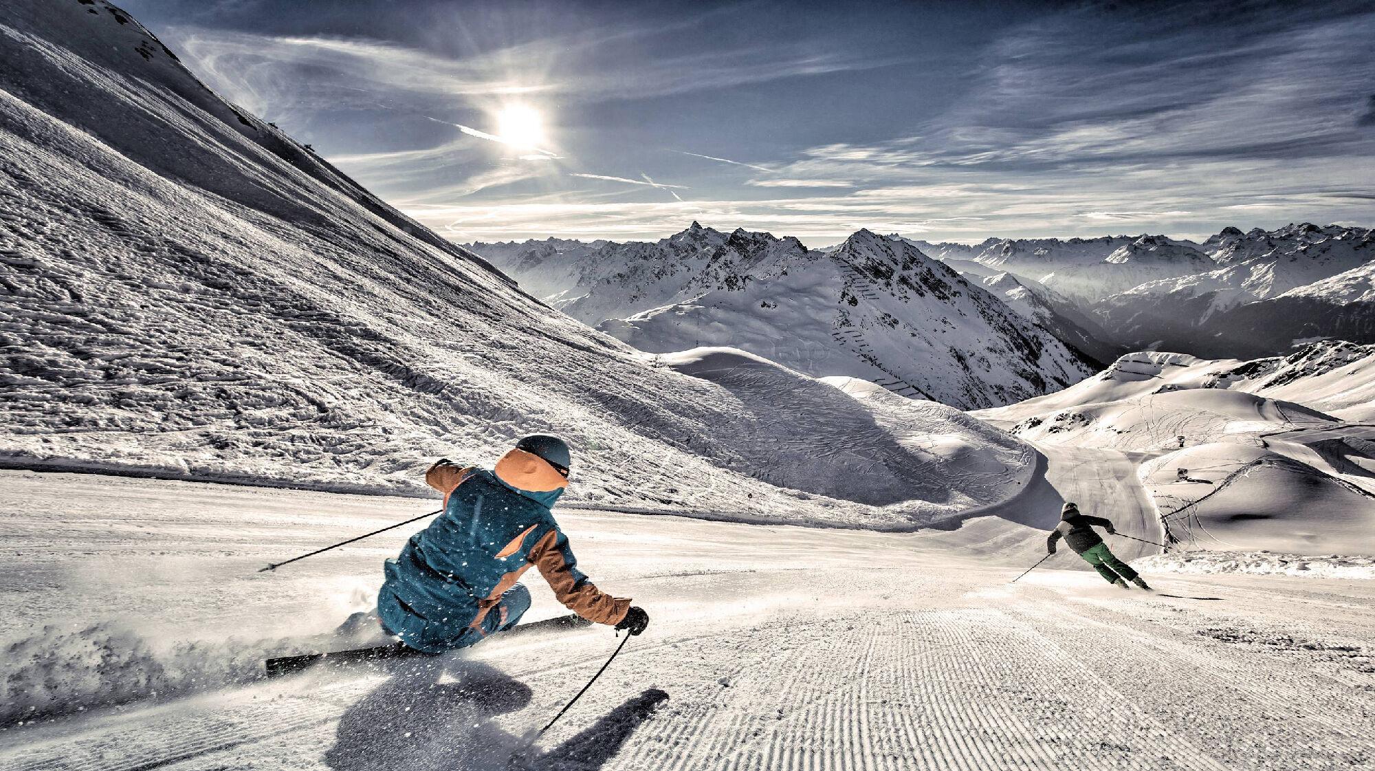 Skifahren im Skigebiet Silvretta Montafon