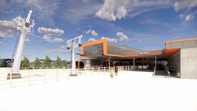 Entwürfe des Neubaus der 10er-Gondel am Kreischberg in der Steiermark