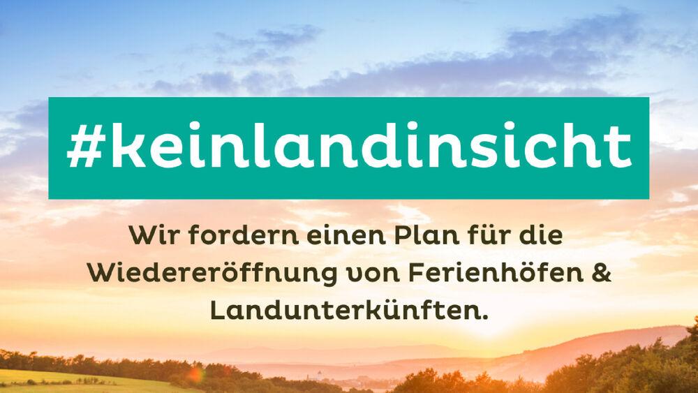 Unter dem Hashtag #keinlandinsicht findet man auf Instagram & Co. jede Menge Beiträge von Gastgebern