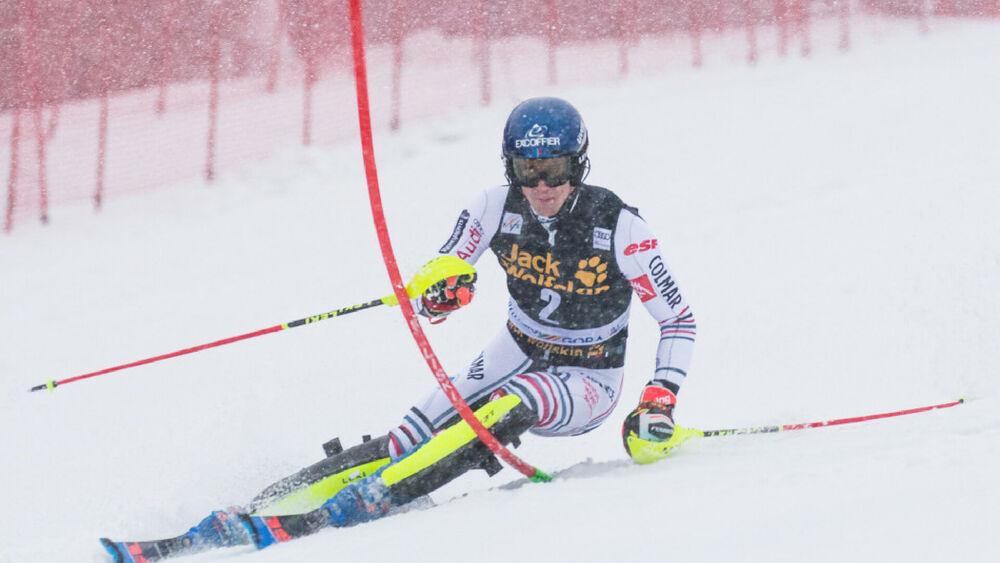 Clément Noël beim Slalom in Kranjska Gora