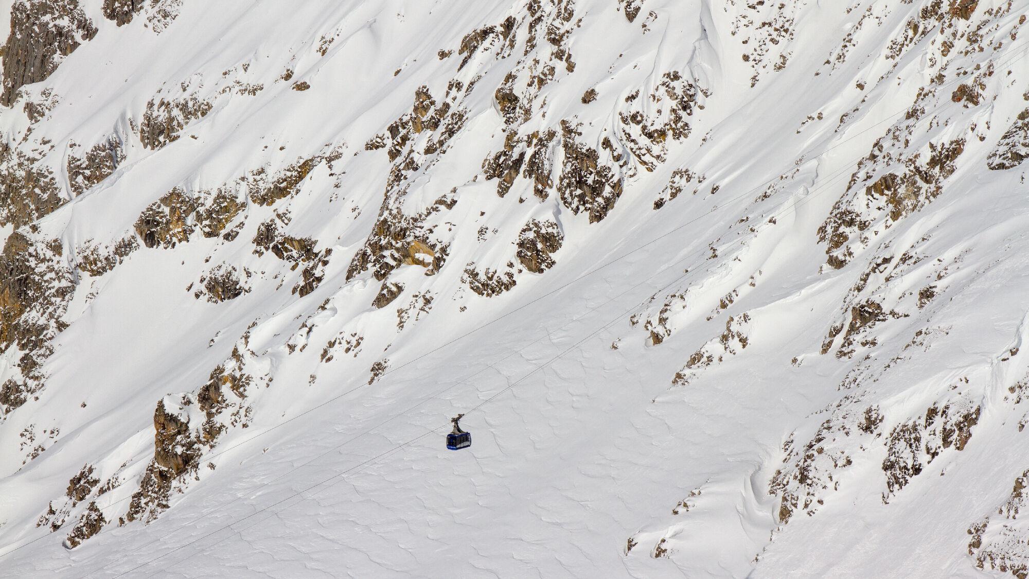 In St. Anton am Arlberg ist Schneemangel meist kein Thema
