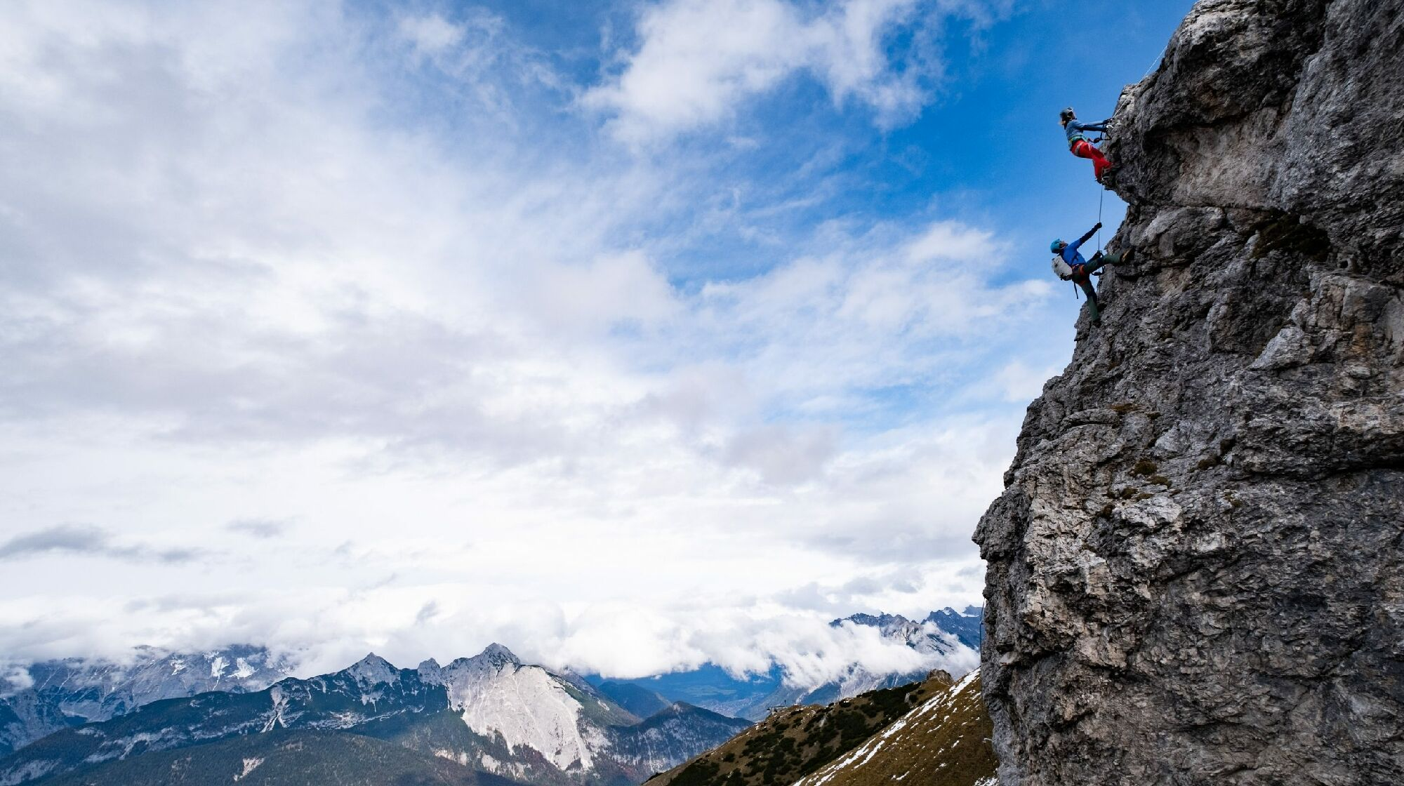 Kletterer an der Seefelder Spitze