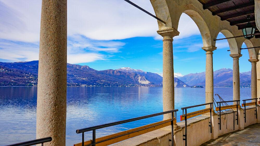 Blick aus der Eisdiele Santa Caterina Del Sasso