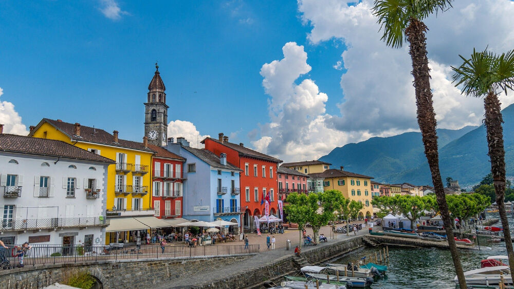 Blick auf Ascona im Norden des Lago Maggiore