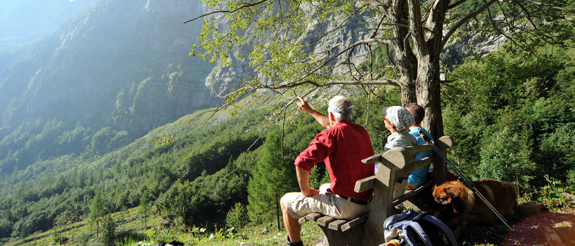 Wanderer-Gruppe in Kärnten