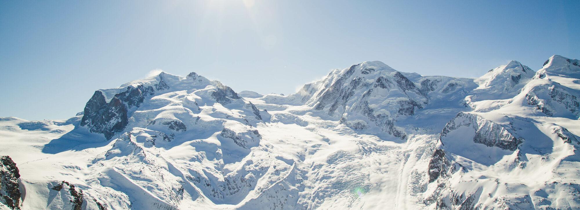 Zermatt: Ausblick vom Gornergrat