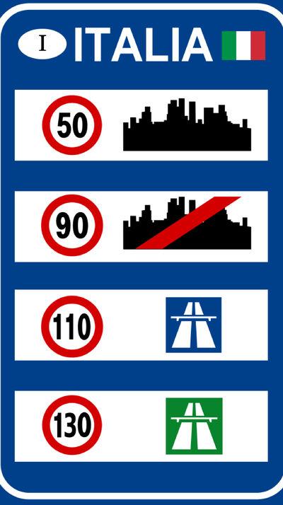 Verkehrsschild Italien