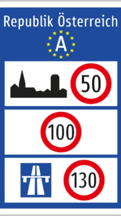Verkehrsschild Österreich