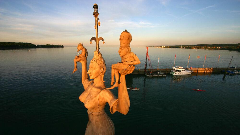 Blick auf die Imperia in Konstanz