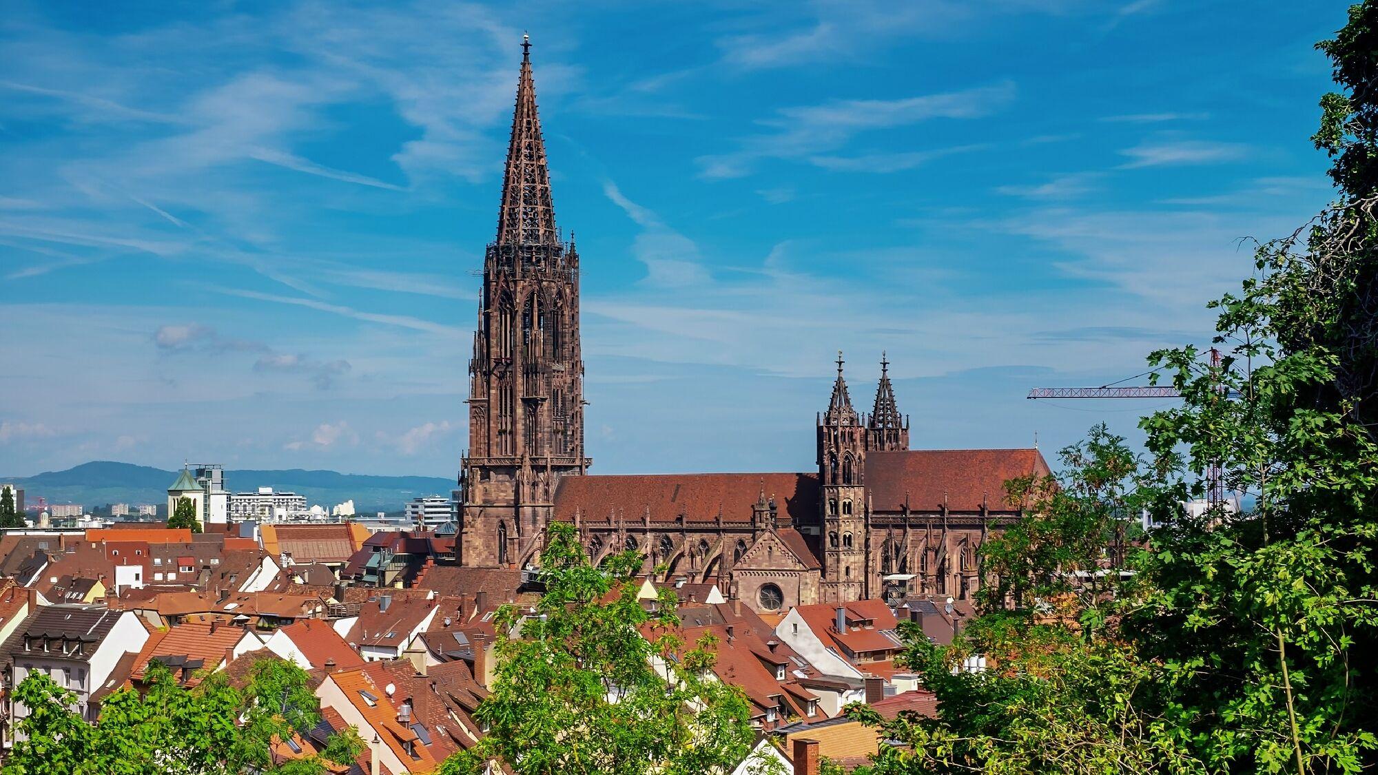 Blick auf das Münster in Freiburg