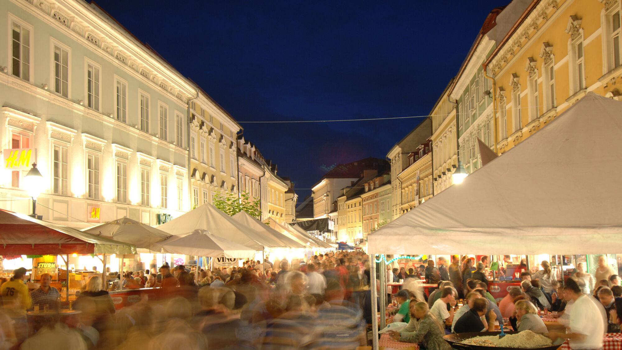 Altstadttrubel in Klagenfurt