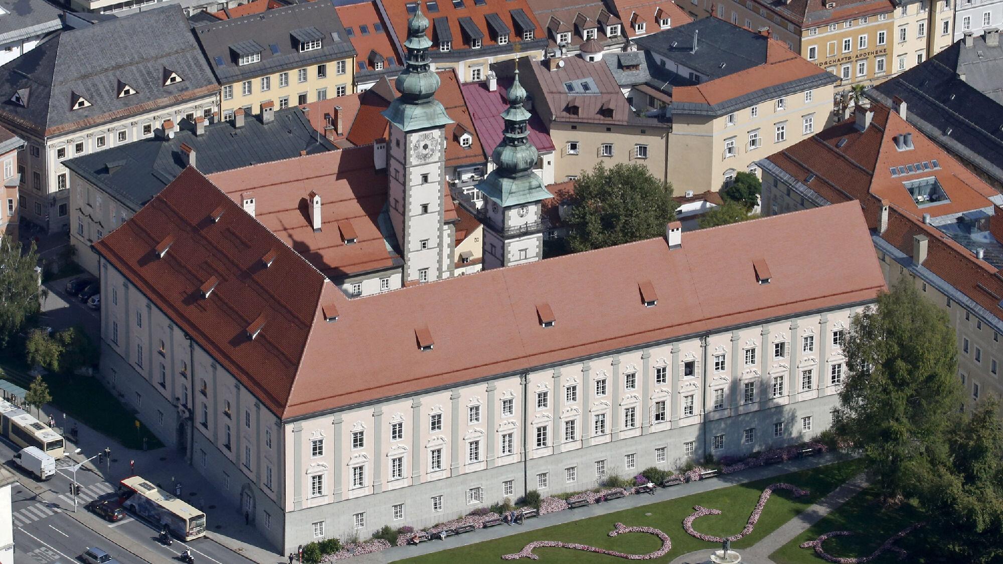 Blick auf das Landhaus Klagenfurt