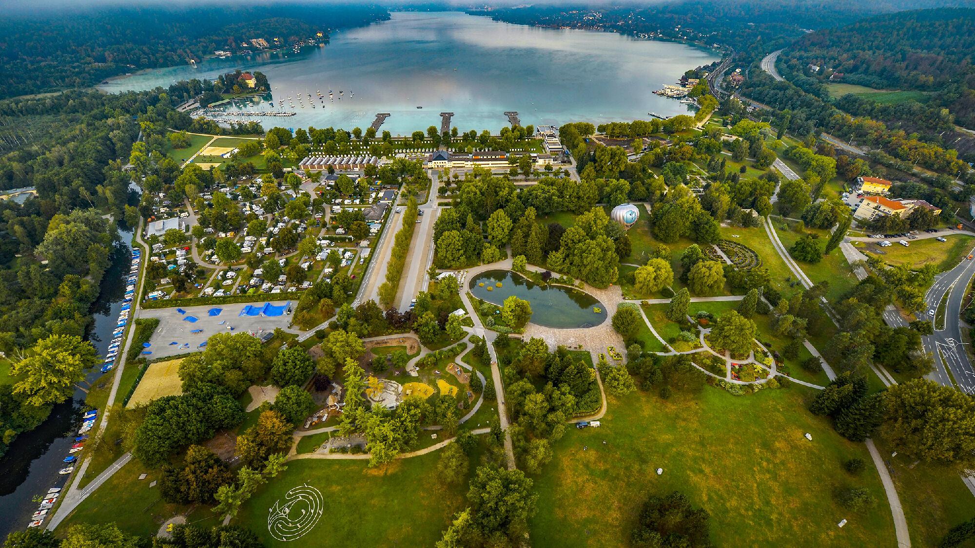 Der größte Park in Klagenfurt