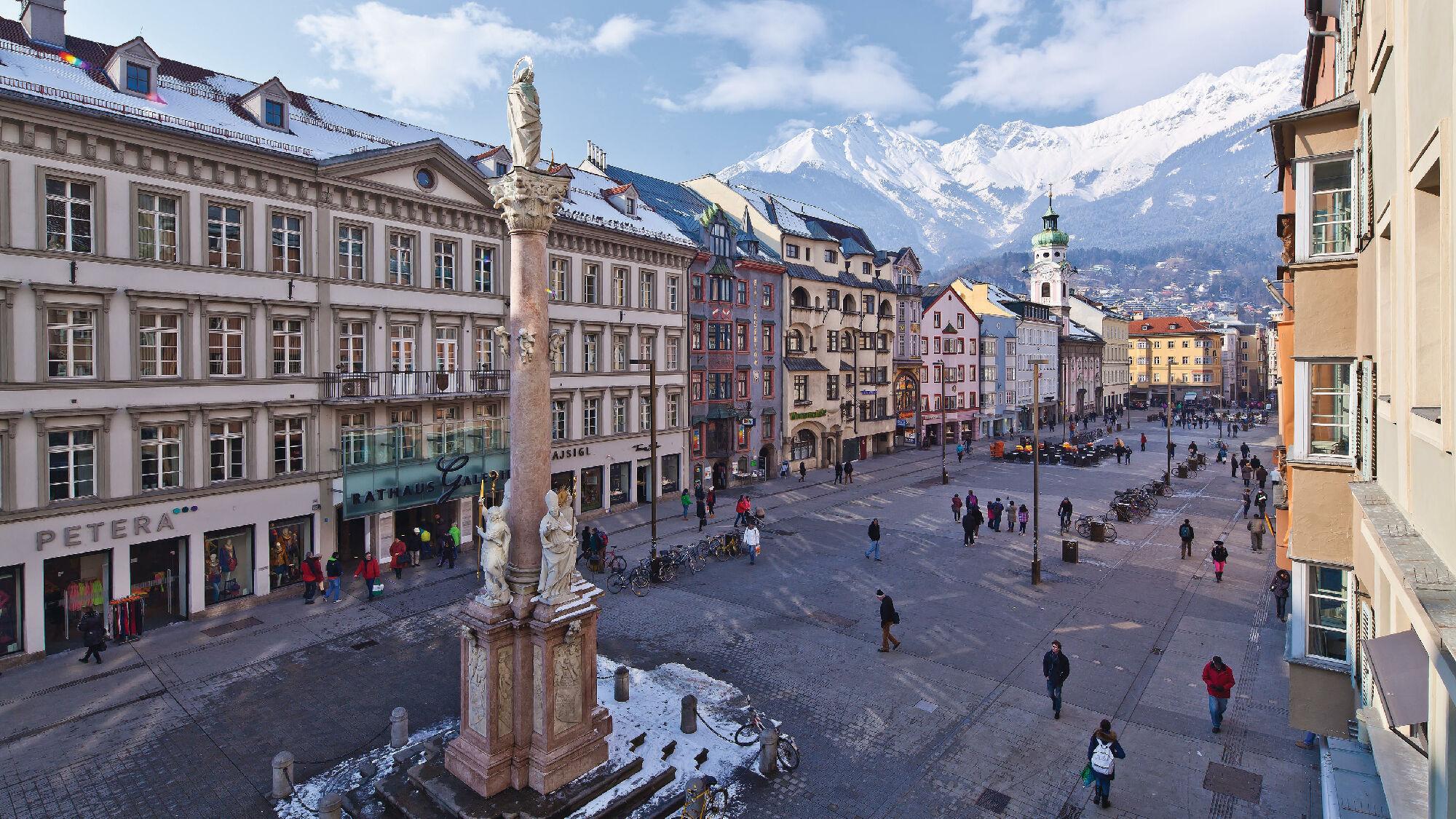 Die Maria-Theresien-Strasse in Innsbruck