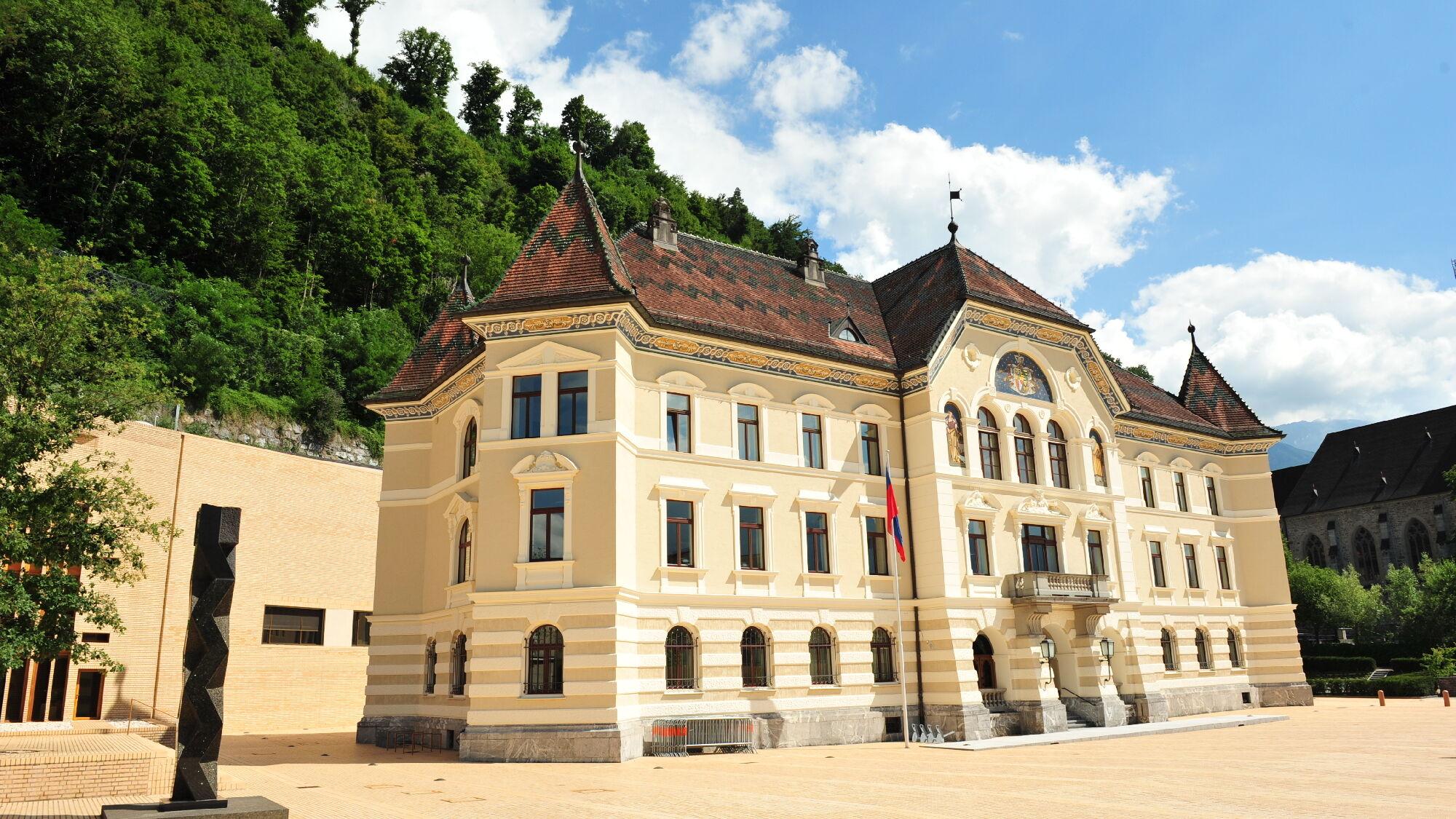 Das Landtagsgebäude in Vaduz